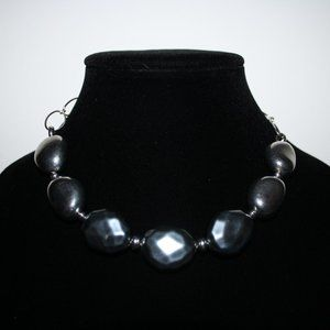 Beautiful chunky silver necklace adjustable